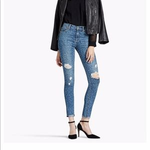 Lucky Brand Bridgette Skinny Leopard Print Jeans